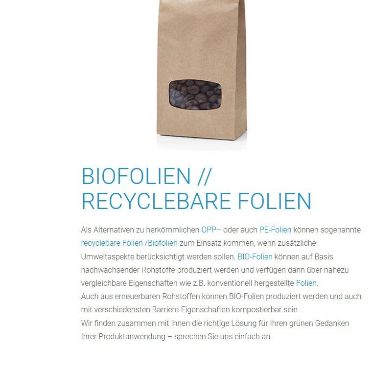 Recyclebare Biofolien